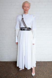 Tilda Swinton in Alexander McQueen alla screening di Orlando,New York