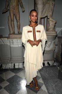 Zoe Saldana in Gucci al Gucci Cruise show, Rome