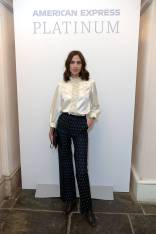 Alexa Chung in ALEXACHUNG all'AMEX private dinner with Nuno Mendes