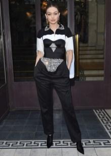 Gigi Hadid in Burberry al Vogue Paris Foundation Gala 2019