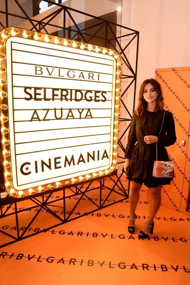 Jenna Coleman al Bvlgari Corner Shop launch, Selfridges, London