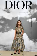 Jenna Coleman in Dior al Dior haute couture show, Paris