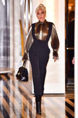Lady Gaga in Alberta Feretti,New York.