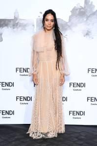 Lisa Bonet in Fendi al Fendi show, Rome