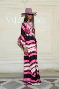 Naomi Campbell in Valentino al Valentino haute couture show, Paris