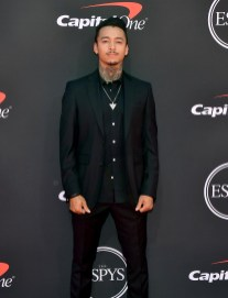 Nyjah Huston in Burberry agli ESPY Awards, Los Angeles