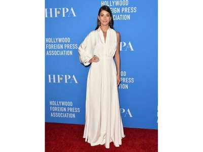 Camila Morrone in Khyeli all'Holliwood Foreign Press Association