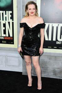 Elisabeth Moss in Vivienne Westwood alla premiere of The Kitchen, Hollywood