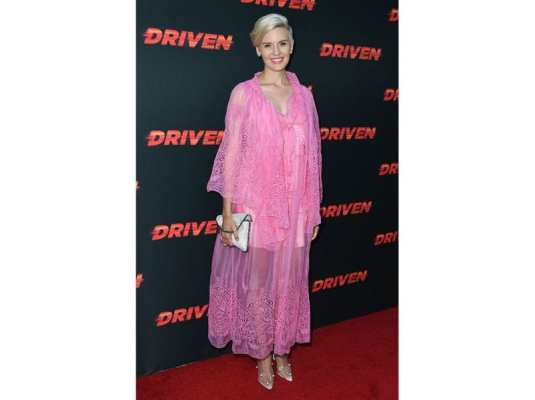 Maggie Grace in Stella McCartney alla Driven Premiere