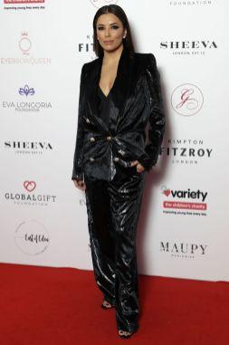 Eva Longoria in Balmain al Global Gift Gala, London