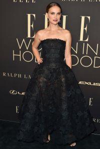 Natalie Portman in Dior all'Elle 'Women In Hollywood' event.