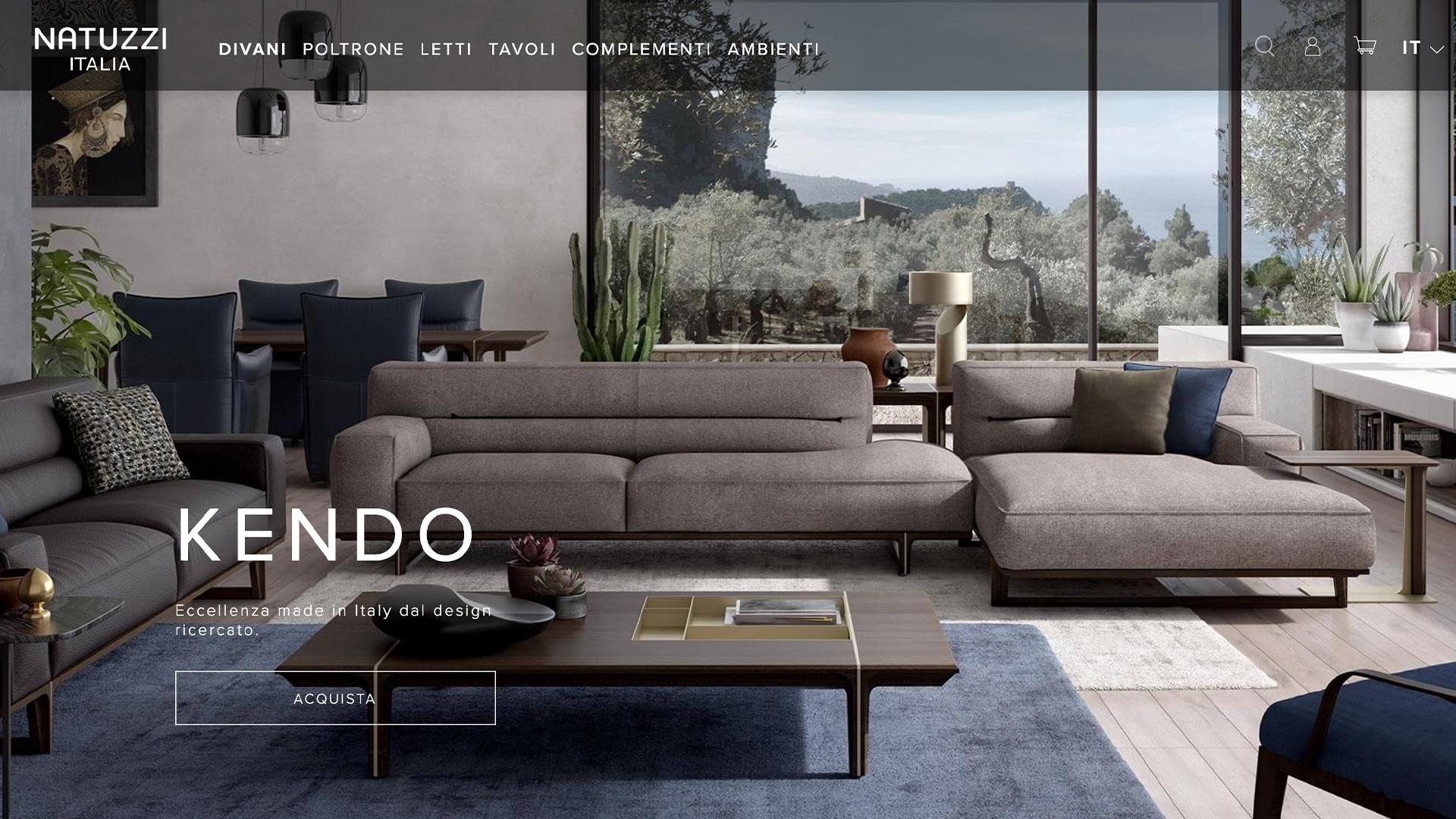 Natuzzi presenta il nuovo sito per una online experience eccezionale