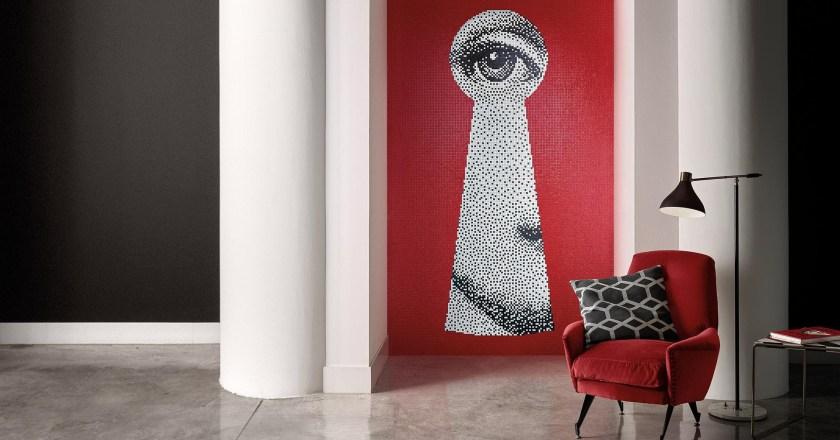 Bisazza lancia una nuova collezione in mosaico nata dalla collaborazione con Fornasetti