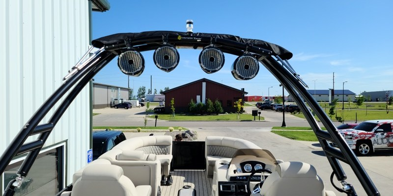 Harris Pontoon Boat Audio Upgrade for Fargo Client
