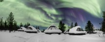 Northern Lights Aurora Bubble Glass Igloo