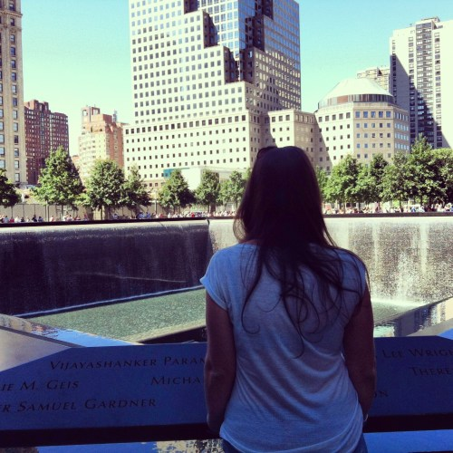 Visiting World Trade Centre Memorial