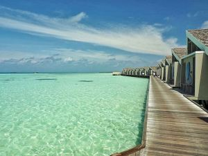 Maldives overwater path