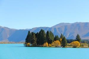 Blue Glacial Lake New Zealand