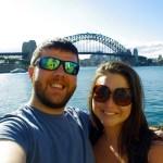Couple in front of Sydney Harbour Bridge