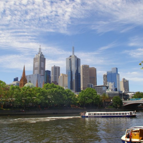 Melbourne CBD Cityscape and Yarra River