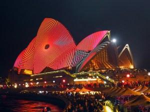 Opera House at Vivid Light Festival