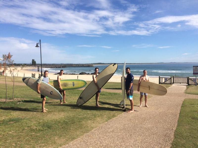 Boys ready for surfing Port Macquarie