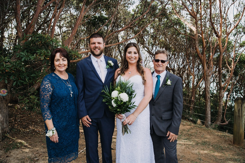 Bride and Groom with Mum & Dad
