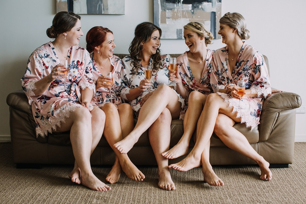 Bridesmaids in Robes