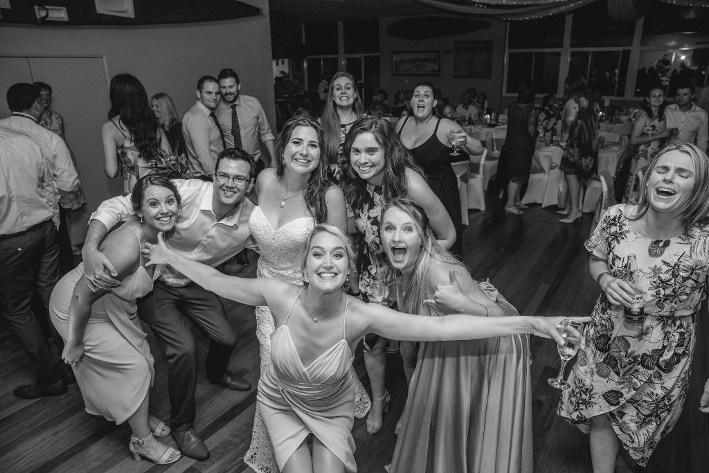 Celebrations at wedding