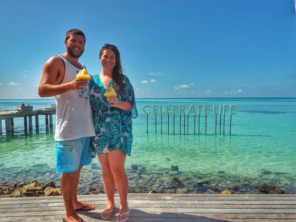 Couple in Maldives on Honeymoon
