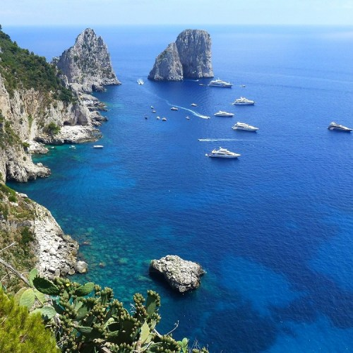 View of Isle of Capri from above