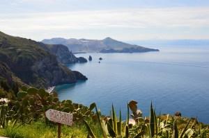 Hiking on Lipari Island in Italy