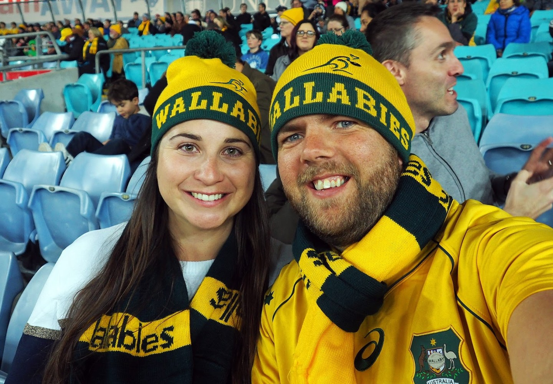 Simone and Dan at Bledisloe Cup