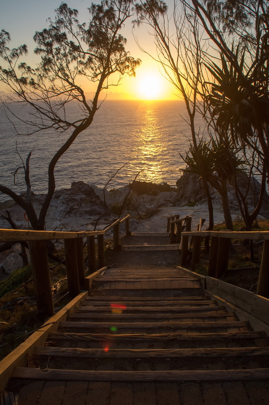 Sunrise at North Gorge Walk Stradbroke Island