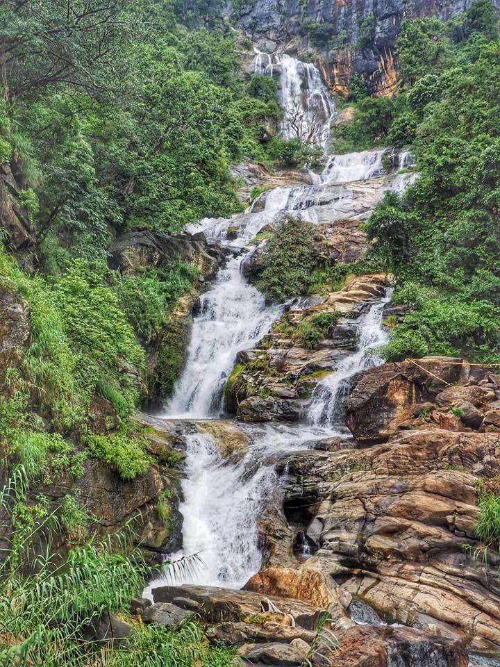 Waterfall in Ella Sri Lanka