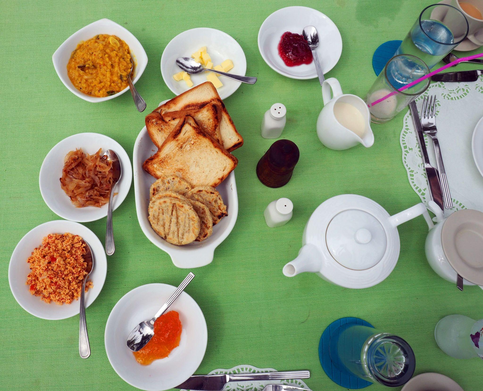 Breakfast spread Master Campers Udawalawe