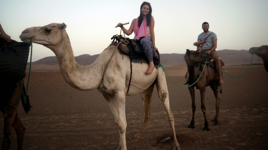 Bucket List Couple on Camel Safari in Morocco