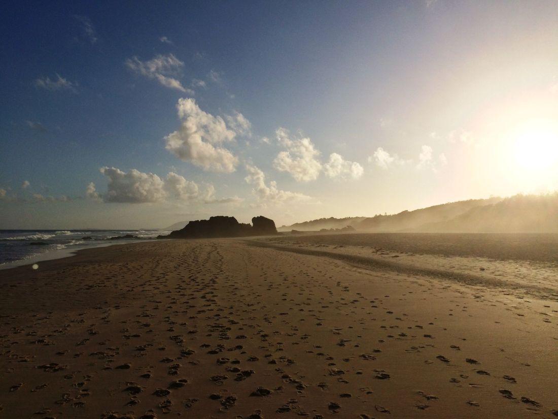 Lighthouse Beach at sunset