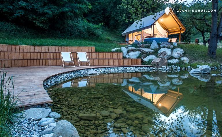 Safari tent in vineyard Slovenia