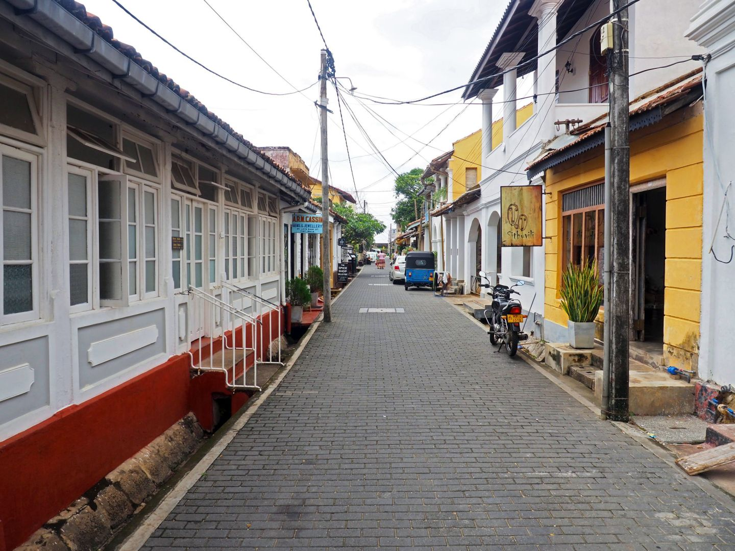 Colonial streets in Galle