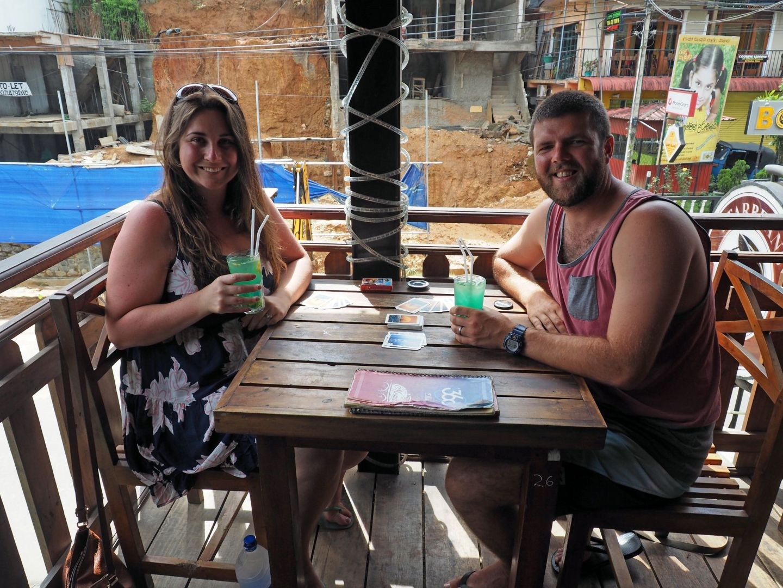 Couple at 360 degree bar Ella Sri Lanka