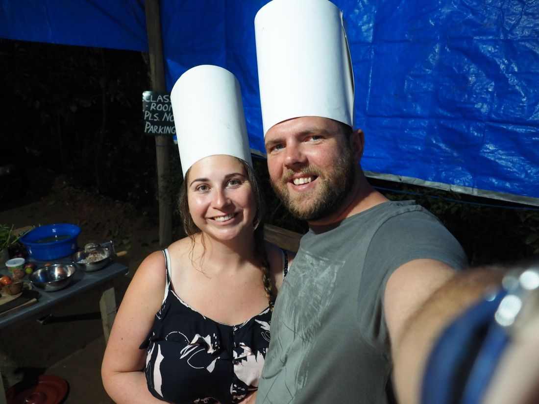 Couple at cooking class Ella Sri Lanka