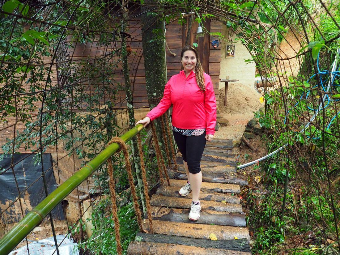 Girl on bridge in Ella Eco Lodge