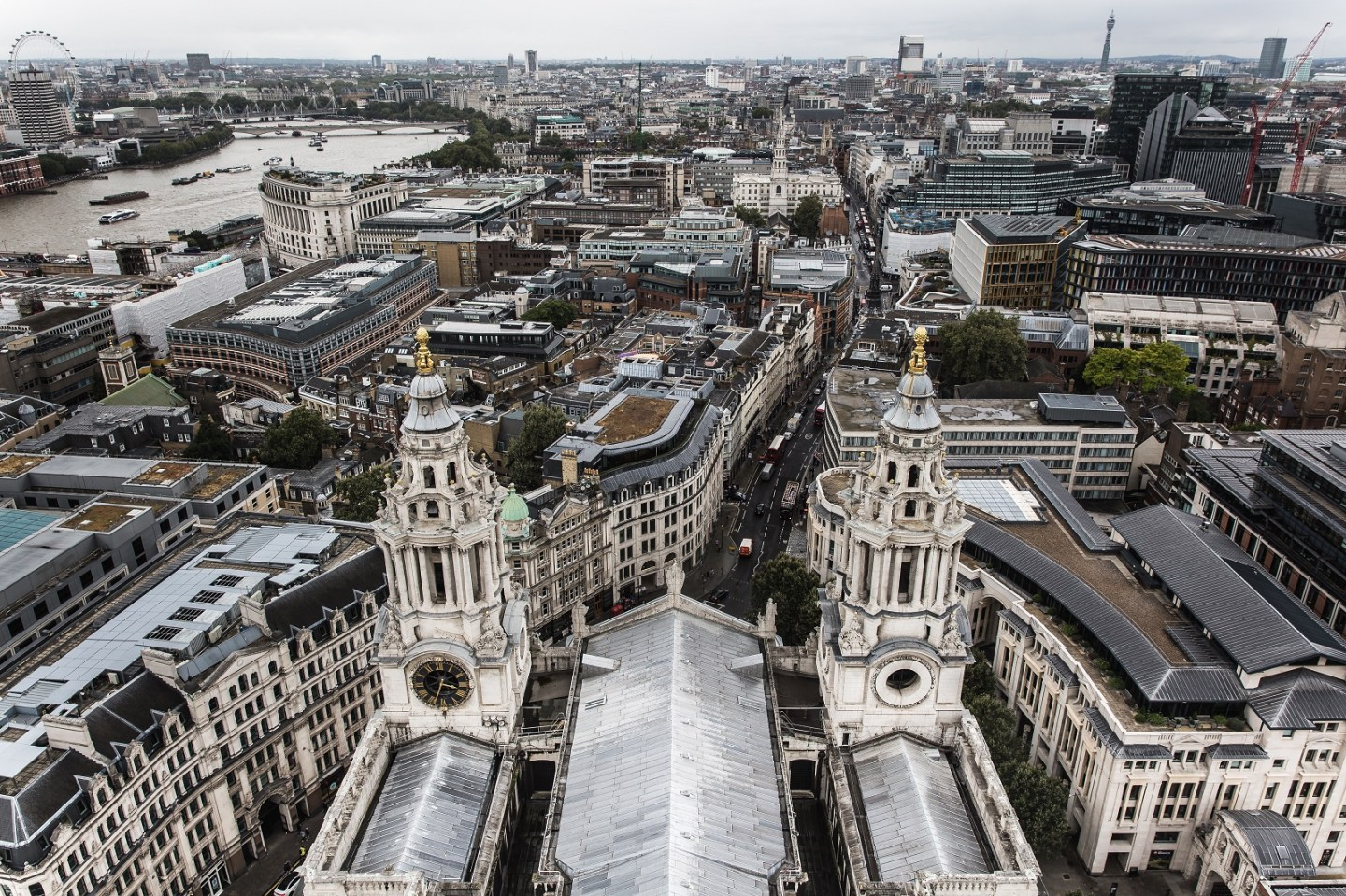 View from St Paul's Cathedral London
