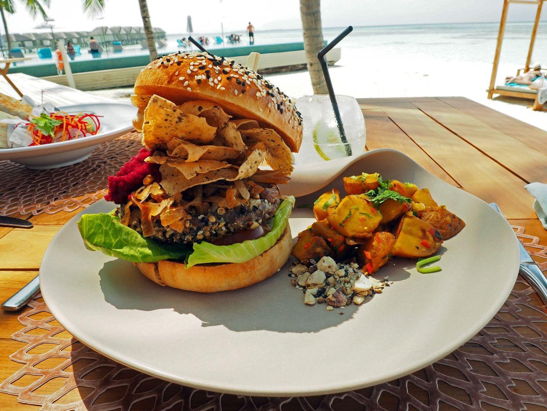 Burger at Senses LUX Maldives