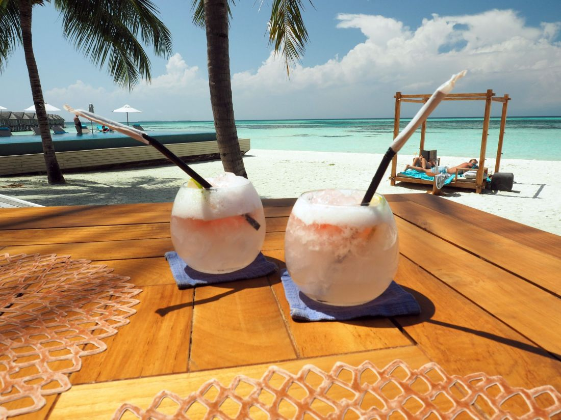 Cocktails at Senses LUX Maldives