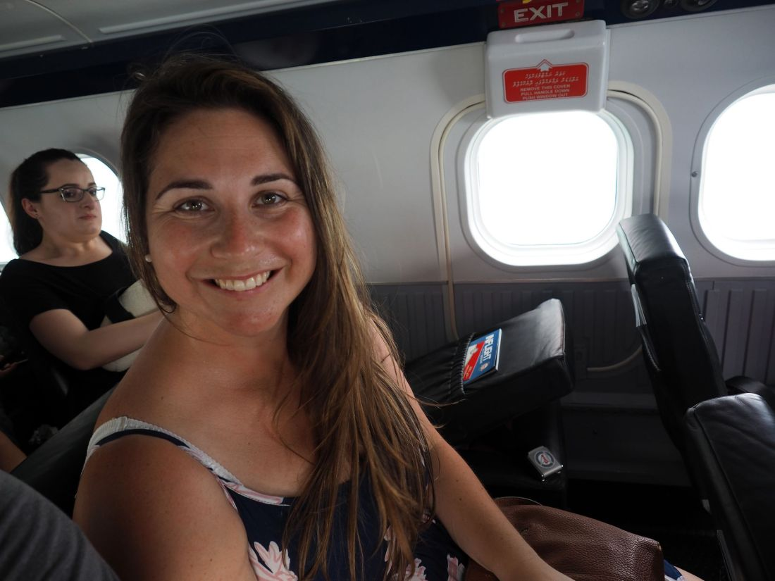 Girl on Maldives Seaplane