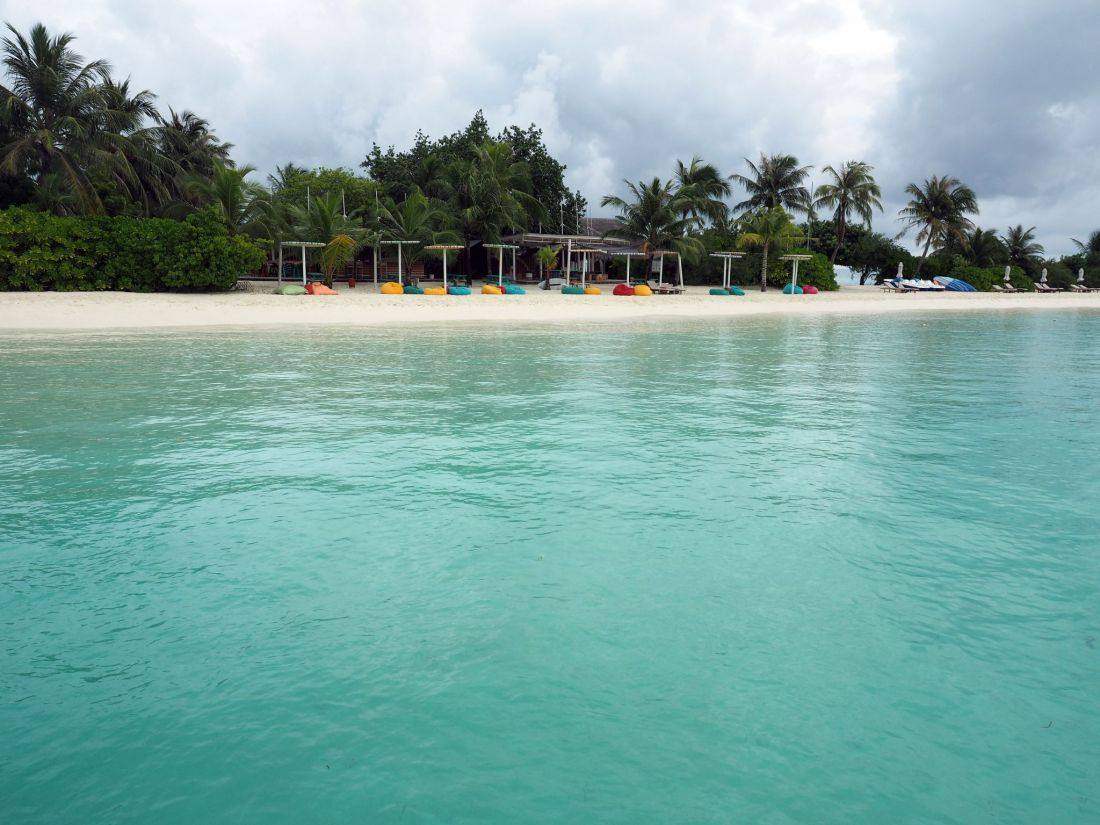 Lagoon Bar LUX Maldives from Water