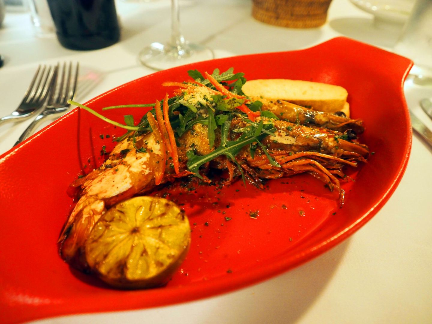 Prawns at Allegria LUX Maldives