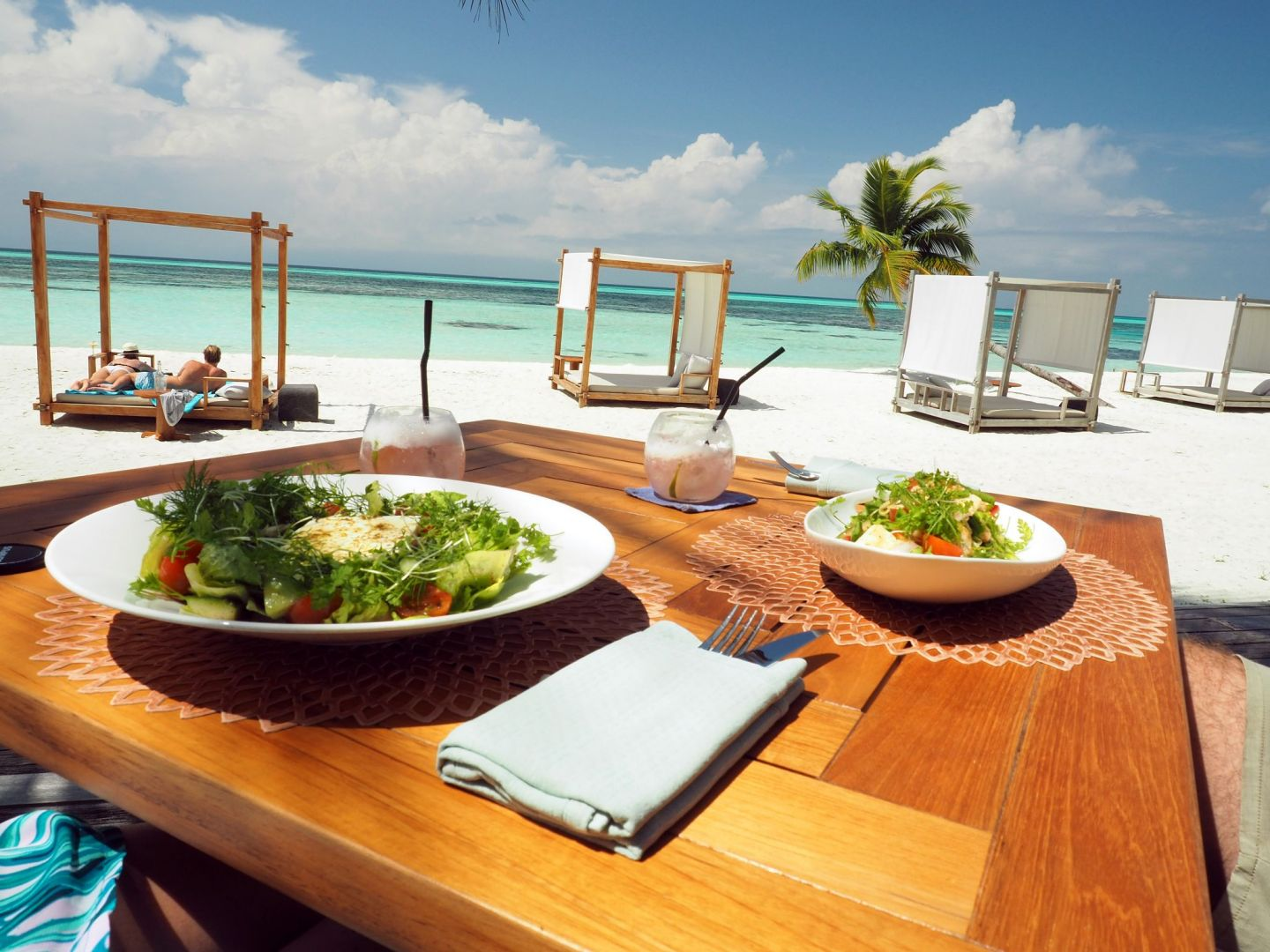 Salads at Senses LUX Maldives